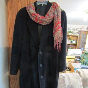 long black giorgio armani coat from Italy